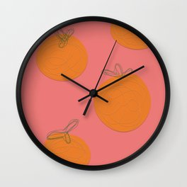 Orange Dream 2 | Citrus art | citrus print | Fruit decor  Wall Clock