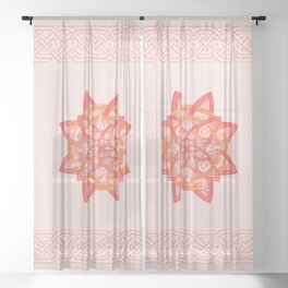 celtic tones Sheer Curtain