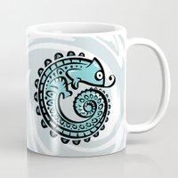 chameleon Mugs featuring chameleon by Erdogan Ulker