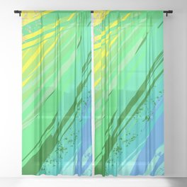 Background with Rainbow Paint Sheer Curtain