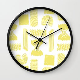 Pasta Pattern Wall Clock