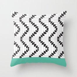 Geometric Black and White Pattern Throw Pillow