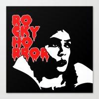 rocky horror Canvas Prints featuring Rocky Horror Fan Art by Maira Artwork