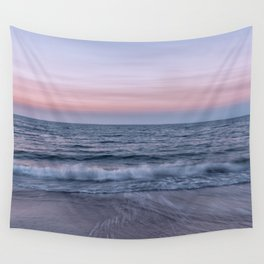 Pastel beach sunset Wall Tapestry