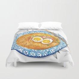 Ramen Noodles Bowl - Watercolour food illustration  Duvet Cover