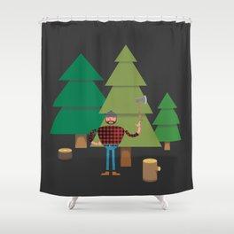 Work Proud Lumberjack Shower Curtain