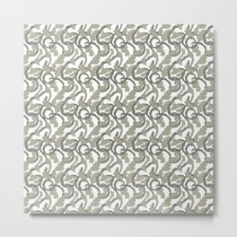 Acanthus Leaf Pattern Classic Victorian Style Metal Print