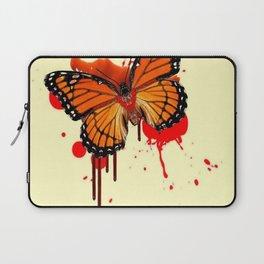BLOODY BLEEDING ORANGE MONARCH BUTTERFLY Laptop Sleeve