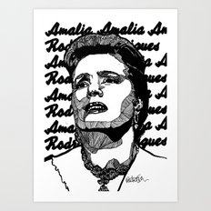 Fado Amalia 2 Art Print
