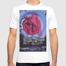 Miami sunset Mens Fitted Tee MEDIUM White