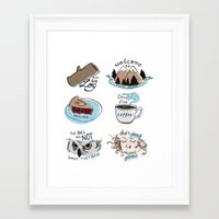 twin peaks Framed Art Prints featuring // twin peaks // by // PIGEON //