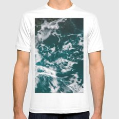 Freedom Waves Mens Fitted Tee White MEDIUM