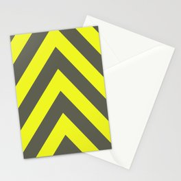 Chevrons warning sign Stationery Cards