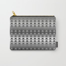 Skull and XBones - Smaller: Metal and Slight Pink Carry-All Pouch