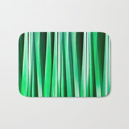 Aquamarine Ocean Stripy Pattern Bath Mat