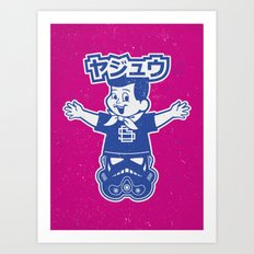 Totem: Mascot & Street Trooper (Navy Magenta) Art Print