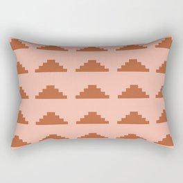 Minimal Pyramids - Terracotta Rectangular Pillow