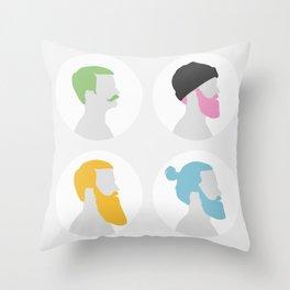 4x Mister hipster Throw Pillow