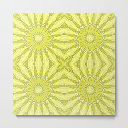 Yellow Pinwheel Flower Metal Print