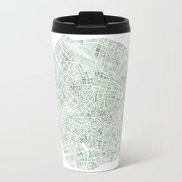 Milan Italy watercolor map Travel Mug