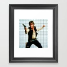 Han with Gun Pixels Texture Framed Art Print