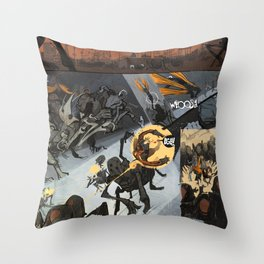 Pages from Comics F Throw Pillow