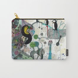 """Toucan and penguins"" Carry-All Pouch"