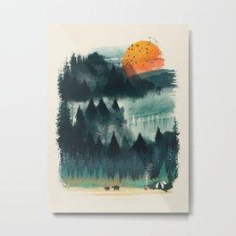 Wilderness Camp Metal Print