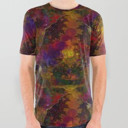 Stereo Trippin' Psychedelic Fractal All Over Graphic Tee