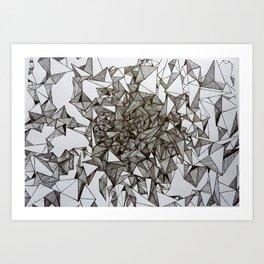 triangular foldings Art Print