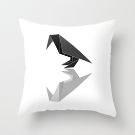 "Collection ""Origami"" impression ""Raven Paper"" Throw Pillow"
