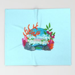 You beautiful, tropical fish Throw Blanket