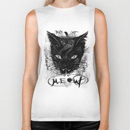 Bad Black Cat Biker Tank