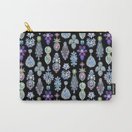AB Crystal Earrings Pattern Carry-All Pouch