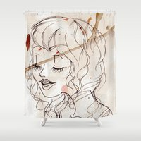 inspiration Shower Curtains featuring Inspiration by StaceyPatinoArt