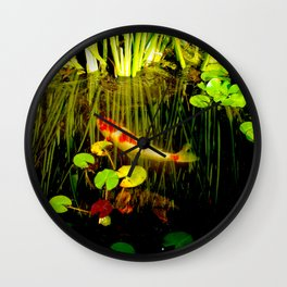 Koi in my Pond Wall Clock