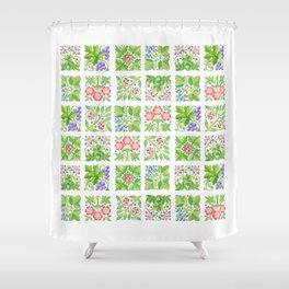 Tudor Flowers Shower Curtain
