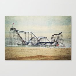 Jet Star Coaster Canvas Print