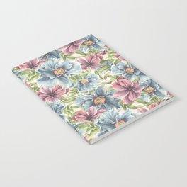 Hibiscus Vintage Pattern Notebook
