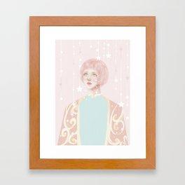 Crying stars Framed Art Print