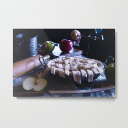 Apple Pie in the Making Metal Print