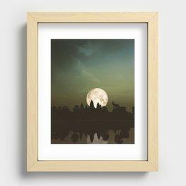 Angkor Wat Super Moon Recessed Framed Print