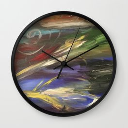 Colors in the Wind Wall Clock