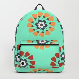 Modern Colorful Flowers Backpack