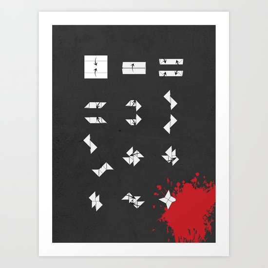 Clumsy Ninja Die Young Art Print
