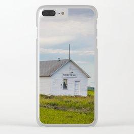 Arena Township School, North Dakota 2 Clear iPhone Case