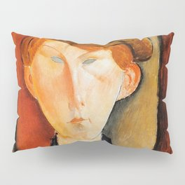 """Amedeo Modigliani """"Young Man with Cap"""" Pillow Sham"""