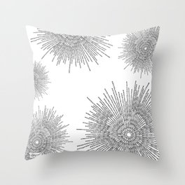 Bridging on White Background Throw Pillow
