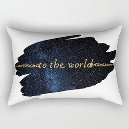 To The World — Good Omens Fanart Rectangular Pillow