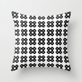 Phillip Gallant Media Design - Special Black Hash On White Throw Pillow
